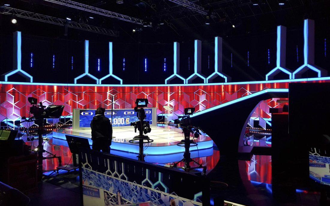 Platós de TV decorados con pantallas de led